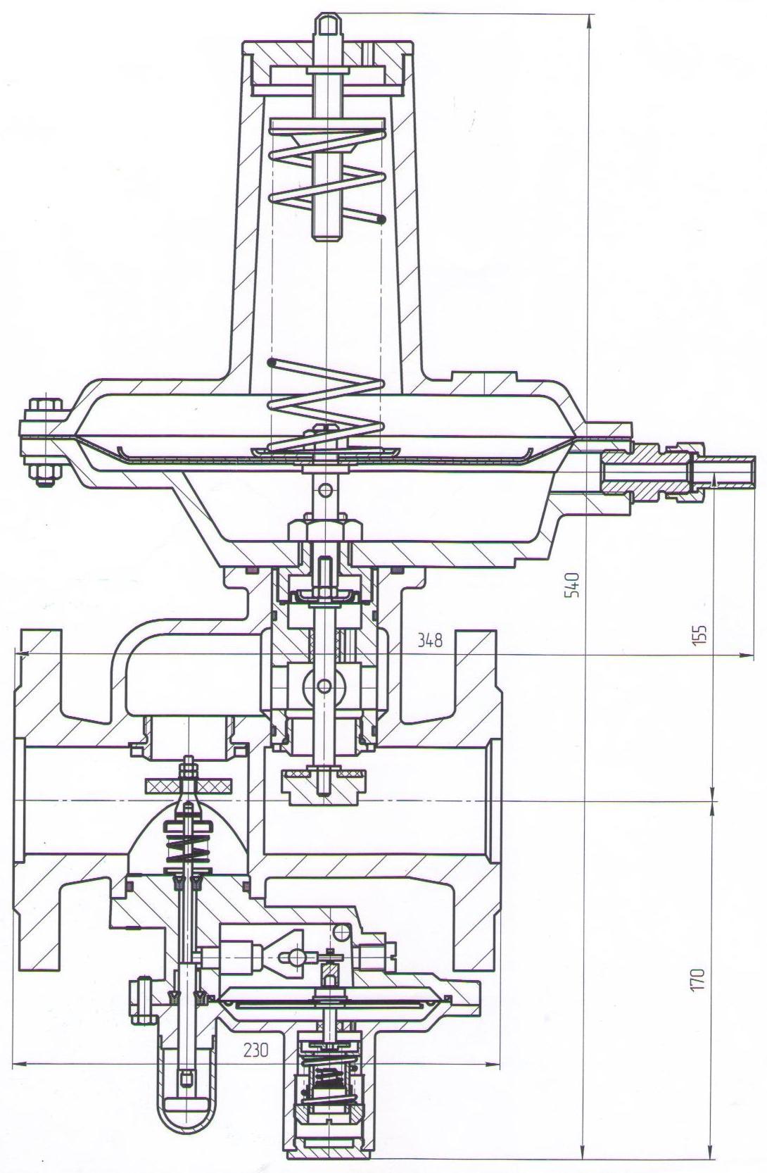 Регулятор давления РДК-50Н, РДК-50/20Н, РДК-50/30Н
